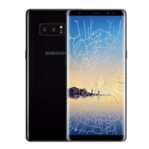 samsung note 8 screen cracked